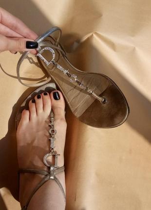 Брендовые стильные кожаные сандалии босоножки мюли christian dior оригинал италия