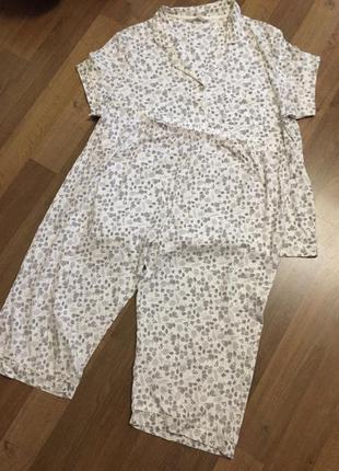 Котоновая пижама marks & spenser