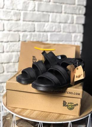 Шикарные женские топовые босоножки dr martens sandals full black 😍 (сандали)