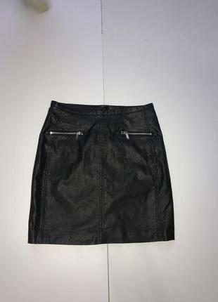 Кожанная юбка h&m