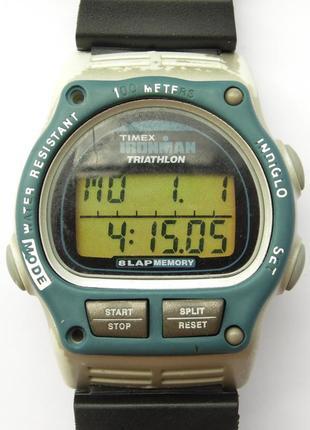 Timex ironman triathlon мужские часы из сша 8 lap indiglo wr100m