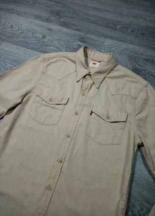 Рубашка levis  плотная хлопковая