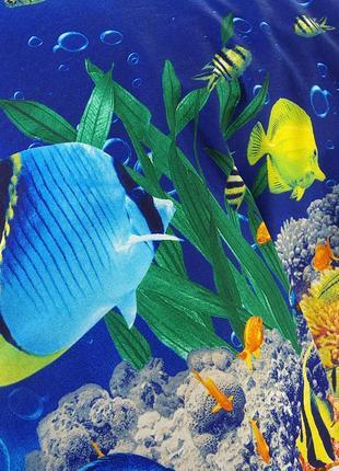 Подводный мир - натуральное постельное белье из перкаля,100 % хлопок3 фото