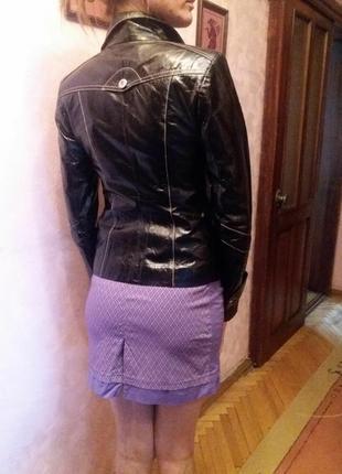 Шкіряна курточка2 фото
