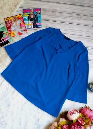 Стильная блуза свободного кроя с переплетом на груди размер 14-16 (44-48)