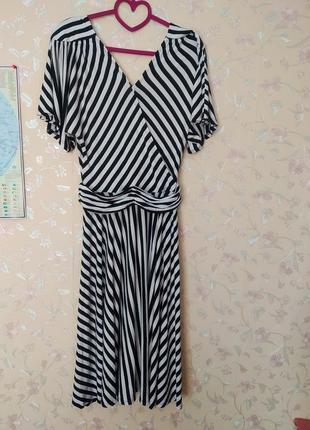 Платье в полоску тельняшка летнее  трикотажное платье