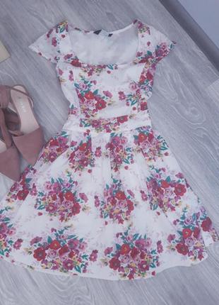 Хлопковое красивое платье на подкладке