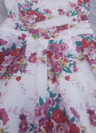 Хлопковое красивое платье на подкладке3 фото