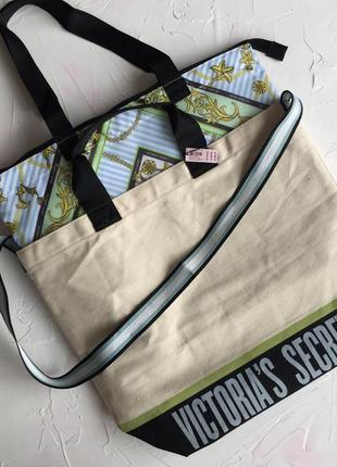 a65ee4ff85d5 Сумка кулер victoria's secret оригинал пляжная шоппер две сумки в одной  виктория сикрет