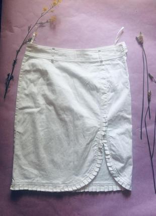 Белоснежная бредовая юбка apart