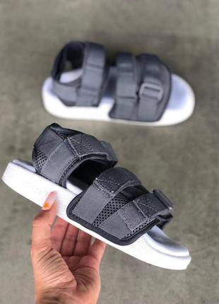 Шикарные женские топовые босоножки adidas adilette sandal gray 😍 (сандали)