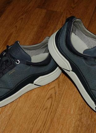 Кожаные кроссовки 42-43 р geox хорошее состояние3 фото