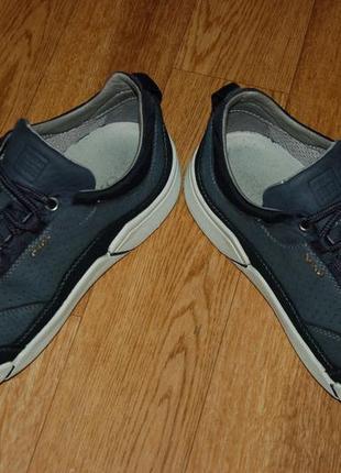Кожаные кроссовки 42-43 р geox хорошее состояние5 фото