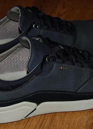 Кожаные кроссовки 42-43 р geox хорошее состояние6 фото