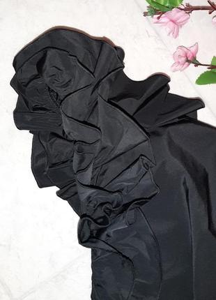 1+1=3 нарядное черное коктейльное короткое платье redhering, размер 44 - 466 фото