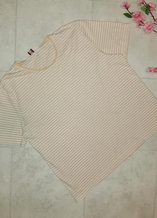 1+1=3 фирменная базовая футболка в полоску olsen, размер 50 - 52