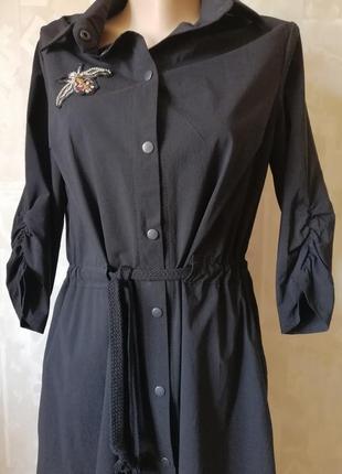 Шикарное трендовое платье в стиле сафари. р. 38-40.