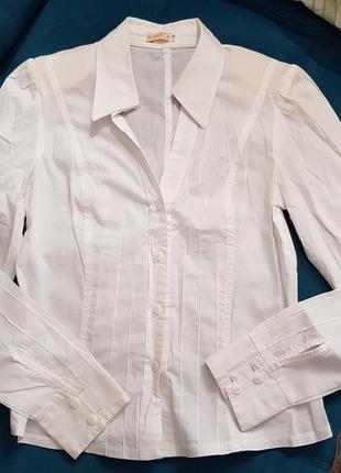 Рубашка белая хлопковая