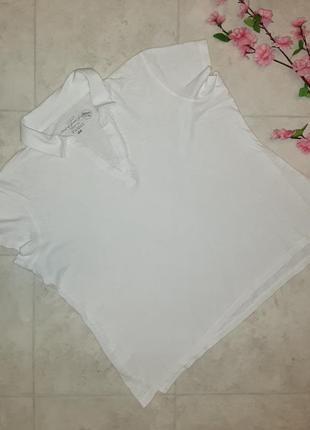 1+1=3 фирменная футболка поло молочного цвета h&m, размер 52 - 54