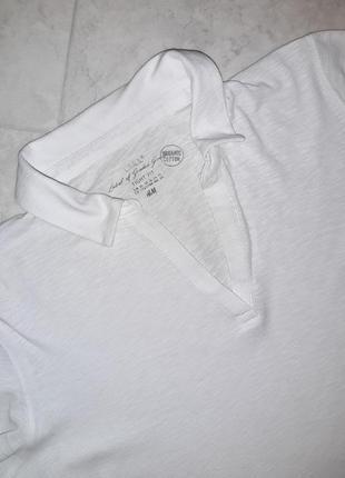 Фирменная футболка поло молочного цвета h&m, размер 52 - 547 фото