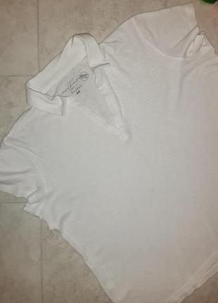 Фирменная футболка поло молочного цвета h&m, размер 52 - 546 фото