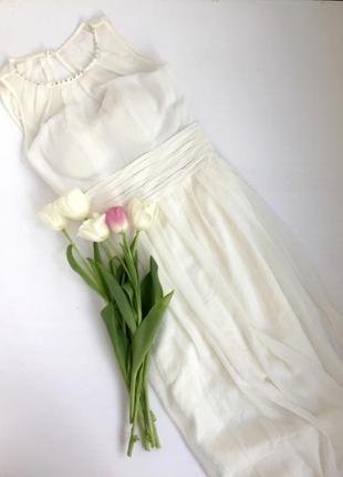 Весільна сукня swing/айворі /максі/грецька сітка/тендітне