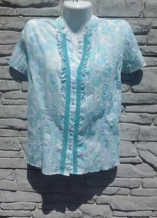 Красивая, нежная блуза/рубашка в кружочках