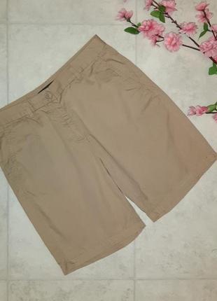 1+1=3 стильные фирменные бежевые шорты чиносы marks&spencer, размер 42 - 44