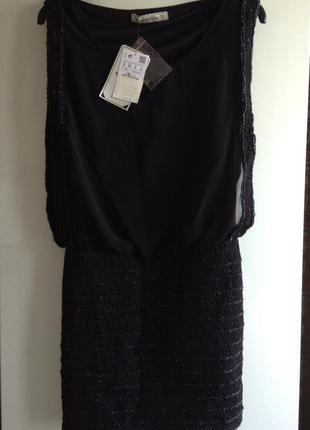 Вечернее коктейльное платье с вышивкой  pull&bear s xs