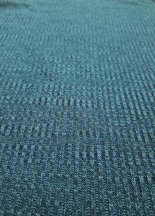 Трикотажное платье цвета морской волны, бирозовое2 фото