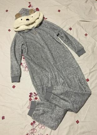 Очень милый и теплый кигуруми пижама мишка