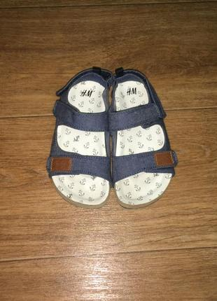 Легкие босоножки, сандалии h&m, р-р 30, на ножку 18 -18,5 см