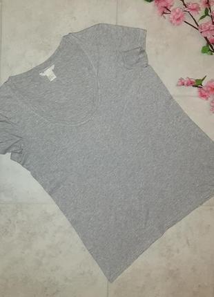 1+1=3 фирменная серая футболка h&m, размер 44 - 46