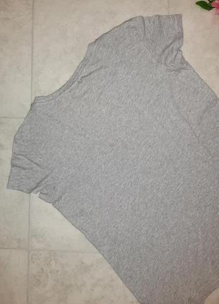 1+1=3 фирменная серая футболка h&m, размер 44 - 463 фото