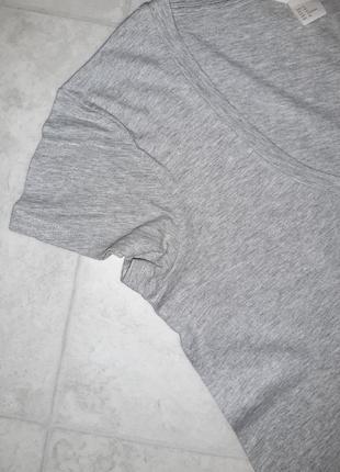 1+1=3 фирменная серая футболка h&m, размер 44 - 465 фото