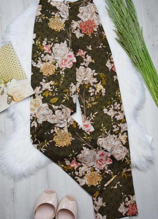 Клешные легкие цветочные штаны брюки