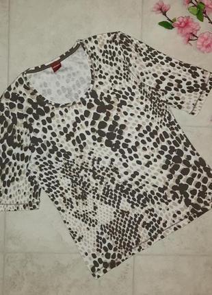 1+1=3 фирменная футболка с леопардовым принтом olsen, размер 44 - 46