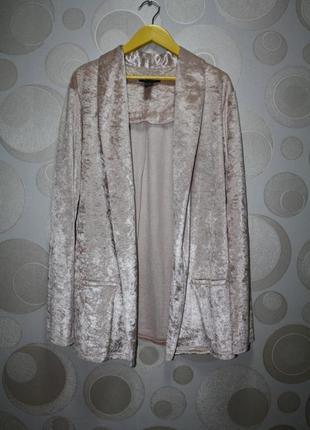 Бархатный блейзер пиджак new look p. l