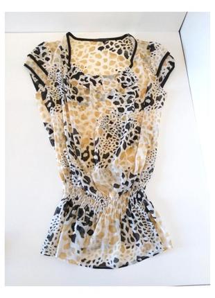 Блуза - туника принт леопард