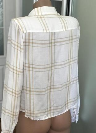 Стильначая рубашка в полоску светлая2 фото