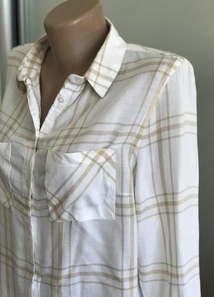 Стильначая рубашка в полоску светлая8 фото