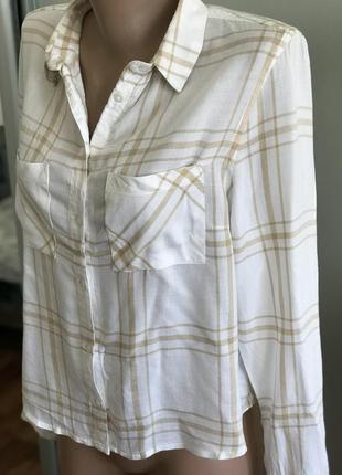 Стильначая рубашка в полоску светлая4 фото