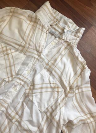 Стильначая рубашка в полоску светлая7 фото
