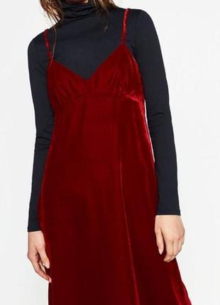 Велюровое платье zara basic