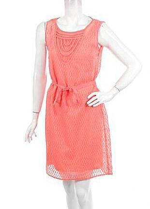 Легка персикова подвійна сукня