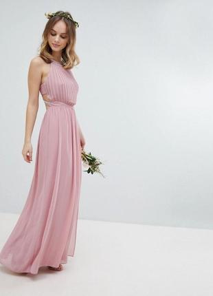 💗💗💗акция!🔥🔥🔥нереально нежное платье с отделкой бисером и камнями! tfnc london