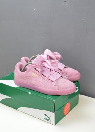Крутые кроссовки puma suede heart reset pink