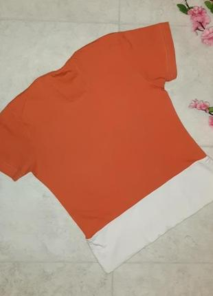 Стильная оранжевая футболка mosaic, размер 44 - 462 фото