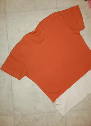 Стильная оранжевая футболка mosaic, размер 44 - 464 фото