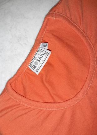 Стильная оранжевая футболка mosaic, размер 44 - 468 фото